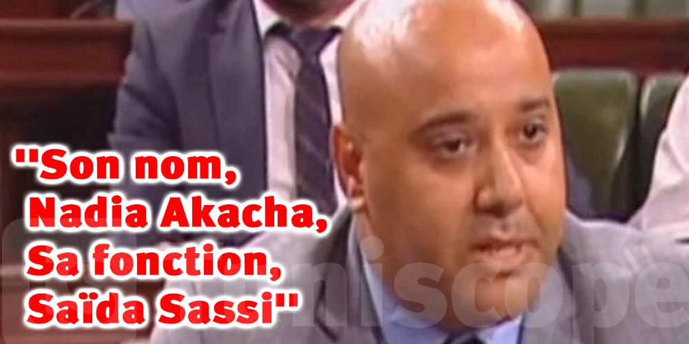 Zied Hechmi : Son nom, Nadia Akacha, Sa fonction, Saïda Sassi