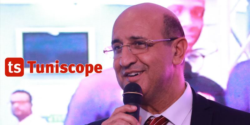 Firas El Faleh président de la ftvb à la réception en l'honneur de l'équipe nationale de volley-ball
