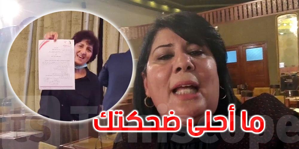 عبير موسي لمحمد عبو ''مرتك قالت ما أحلى ضحكتك سيدي الرئيس ''