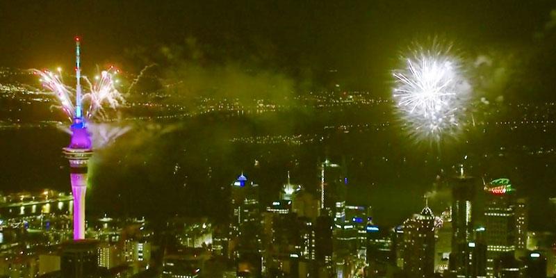 La Nouvelle Zélande passe à la nouvelle année 2020
