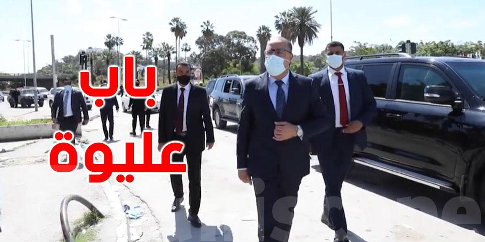 بالفيديو: رئيس الحكومة في باب عليوة والمنصف باي
