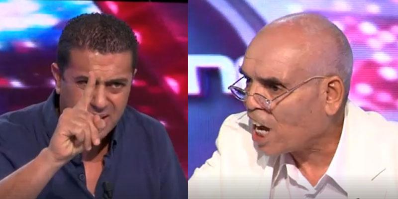 En vidéo : Clash entre Mokhtar Tlili et l'arbitre  Makram Laguem pendant l'émission Sport Tunisna