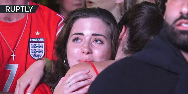 بالفيديو : رد فعل المشجعين الإنقليز بعد خسارة منتخبهم أمام كرواتيا