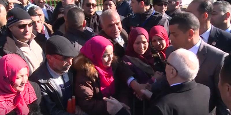 En vidéo : Visite de BCE à la Cité Ettadhamen à l'occasion de la célébration du 7ème anniversaire de la Révolution