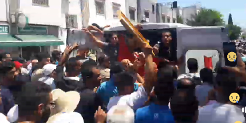 بالفيديو : مباشر جنازة الشهيد أنيس الورغمَّي
