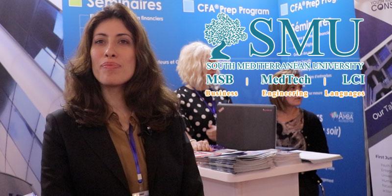 Interview de Mme. Mouna Chaari directrice du centre de carriere de la SMU