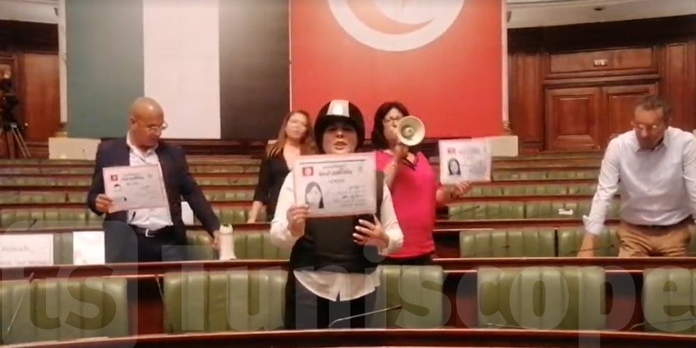 Tunisie : En vidéo : Abir Moussi énervée au Parlement