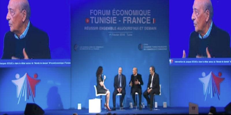 Jacques Séguéla CCO HAVAS au Forum économique tuniso-français