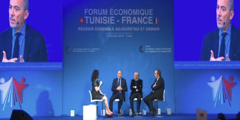 Stephane Richard, PDG Orange au Forum économique tuniso-français