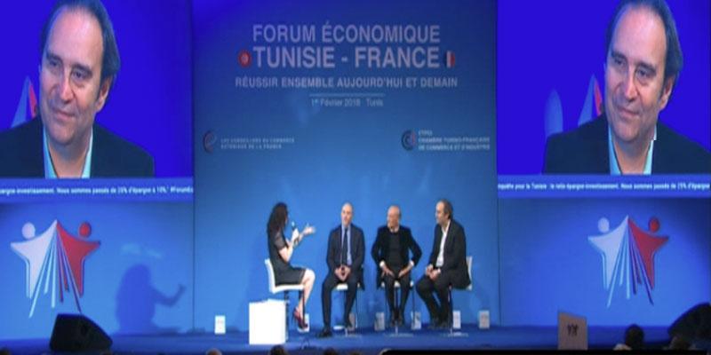 Xavier Niel PDG d'ILIAD au Forum économique tuniso-français