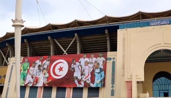 بالفيديو : الملعب الاولمبي برادس يستعدّ لإحتضان مباراة تونس و ليبيا