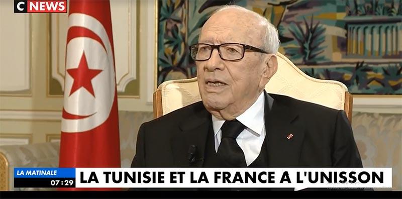 بالفيديو: الحوار الكامل لقائد السبسي مع على قناة فرنسية