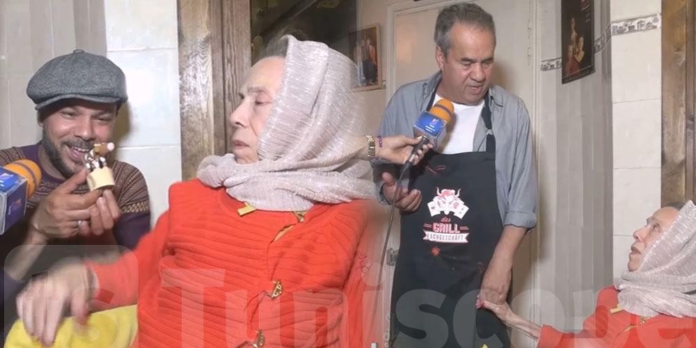 بالفيديو: شاهد الفنانة سعاد محاسن في رمضان مع عائلتها
