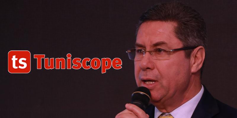 Président du Comité National Olympique Tunisien à la réception réception organisée en  l'honneur de l'équipe nationale de volley-ball